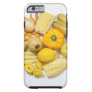 A selection of yellow fruits & vegetables. tough iPhone 6 case