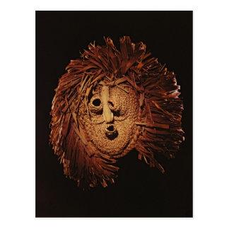 A Seneca mask used in winter rites Postcard