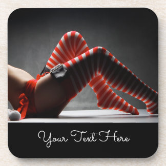 A Sensual Christmas Accent Drink Coasters