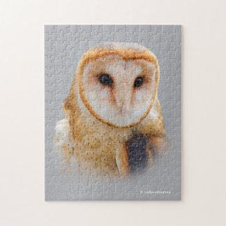 A Serene Barn Owl Jigsaw Puzzle