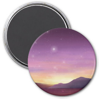 A serene purple sunset painted by starlightskyes. magnet