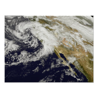 A series of strong storms with fierce winds photo print
