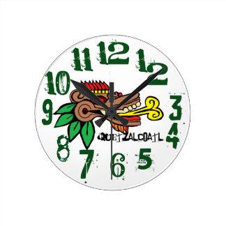A SERPIENTE EMPLUMADA ,  Quetzalcoatl Round Clock