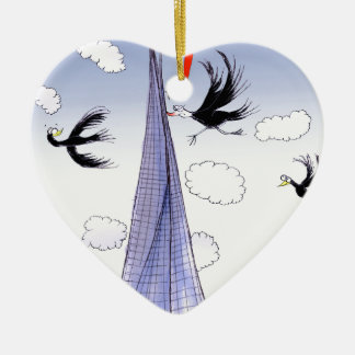 A ShardArt Ouch by Tony Fernandes Ceramic Heart Decoration