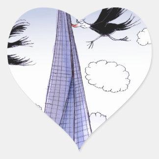 A ShardArt Ouch by Tony Fernandes Heart Sticker
