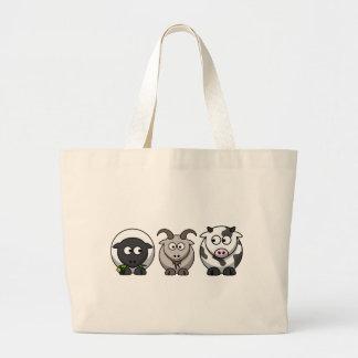 A Sheep, A Goat and a Cow Jumbo Tote Bag