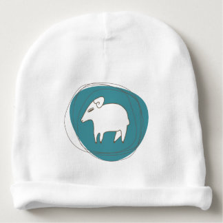 A sheep in ovals baby beanie