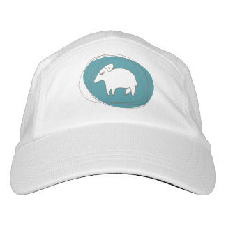 A sheep in ovals hat