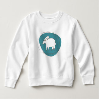 A sheep in ovals sweatshirt