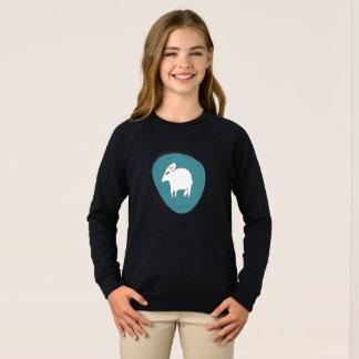 A sheep in ovals sweatshirt