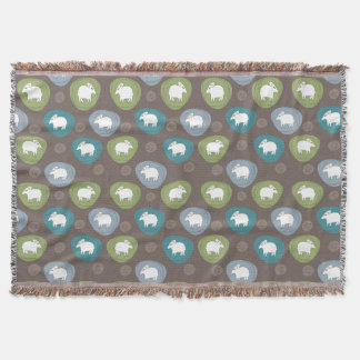 A sheep in ovals throw blanket