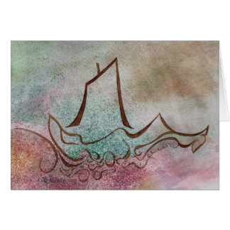 A Ship Goes Sailing By Notecard