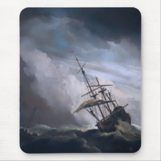 A Ship In Need In A Raging Storm Mouse Pad