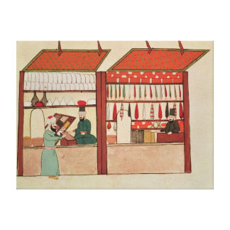 A Shop Selling Different Merchandise Stretched Canvas Prints