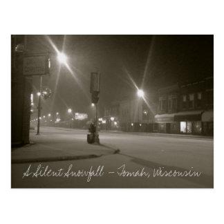 A Silent Snowfall - Tomah, Wisconsin Postcard