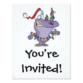 a silly cute christmas santa rhino 11 cm x 14 cm invitation card