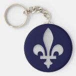A Silver Fleur-de-lys Keychain