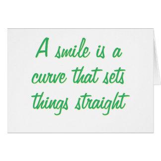 A simile is a curve card