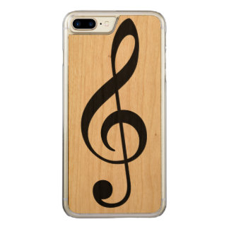 a simple black musical note (music symbol) carved iPhone 7 plus case