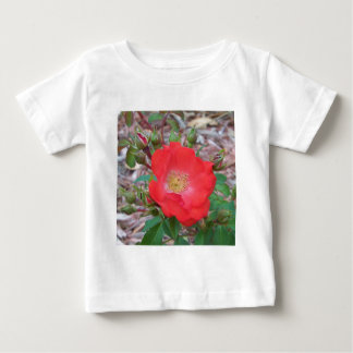 A simple salmon colored open rose baby T-Shirt