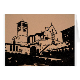 A Simple Sketch of St. Francis Basilica, Assisi Card