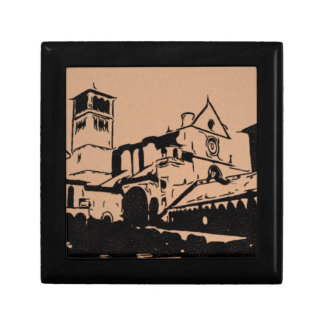 A Simple Sketch of St. Francis Basilica, Assisi Gift Box
