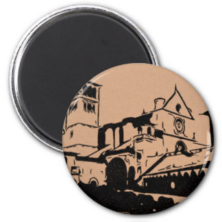 A Simple Sketch of St. Francis Basilica, Assisi Magnet