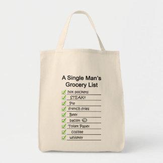 A Single Man's Grocery List