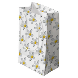 A Single Plumeria Flower Isolated Small Gift Bag