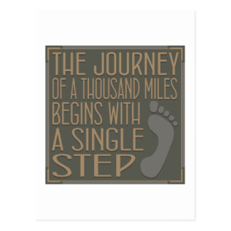 A Single Step Postcard