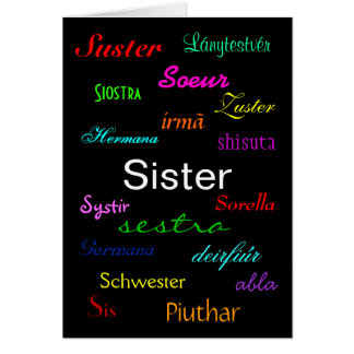 """A Sister's Birthday"" Card - Customisable"