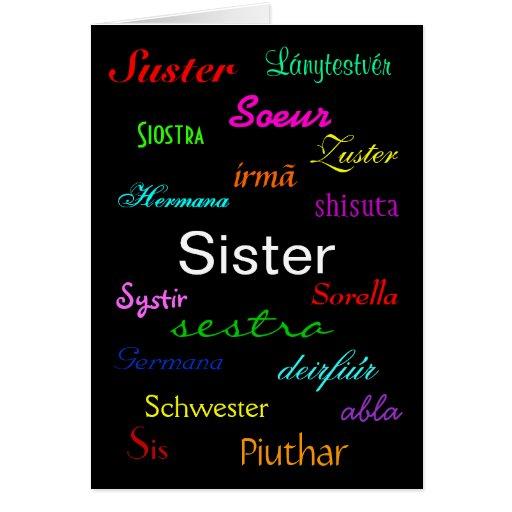 """""""A Sister's Birthday"""" Card - Customisable"""