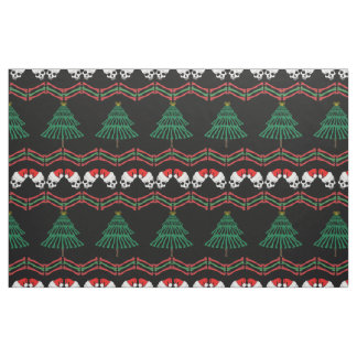 A skeletal christmas sweater fabric