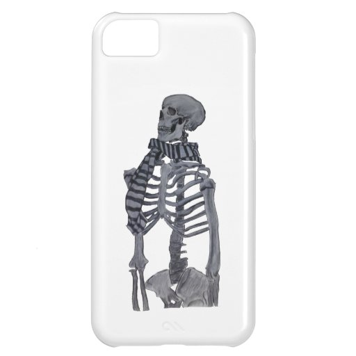 A Skeleton and her Scarf iPhone 5C Case
