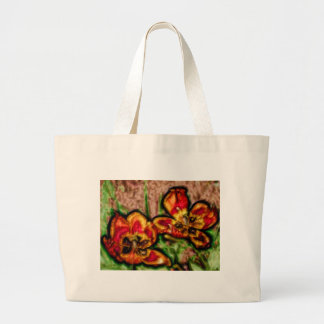 A Sketch of Tulipa Duo Large Tote Bag