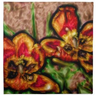A Sketch of Tulipa Duo Napkin