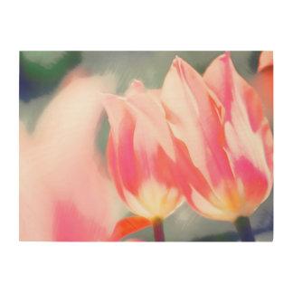 A Sketch of Tulipa Duo Wood Print