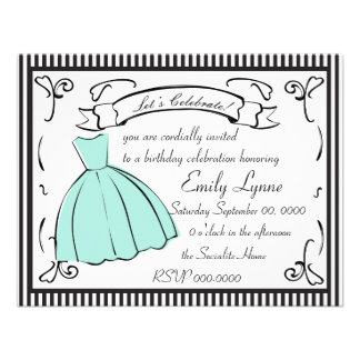 A Sketched Dress Invitation