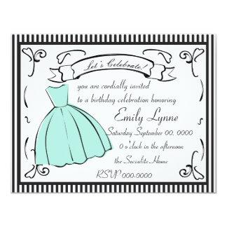 A Sketched Dress 11 Cm X 14 Cm Invitation Card