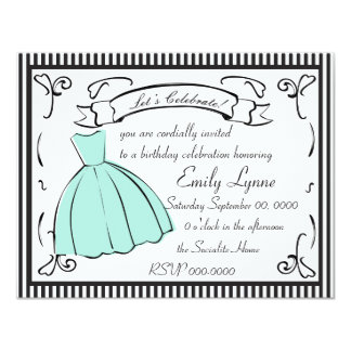 "A Sketched Dress 4.25"" X 5.5"" Invitation Card"