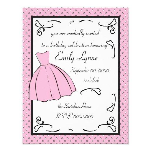 A Sketched Dress Custom Invitation