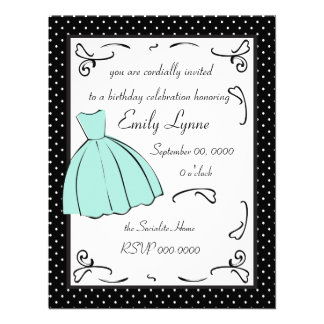 A Sketched Dress Personalized Announcement