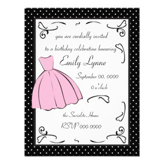 A Sketched Dress Personalized Announcements