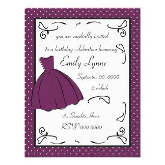 A Sketched Dress Custom Invites