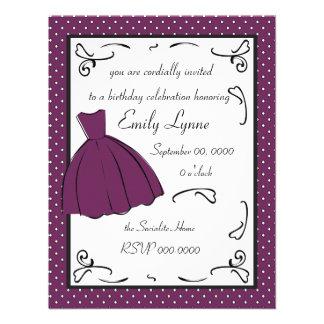 A Sketched Dress Custom Invites