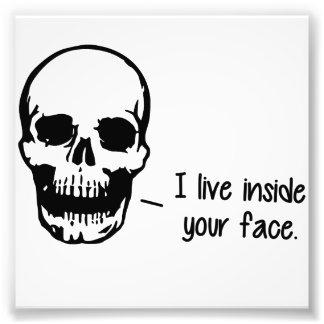 A Skull Lives Inside Your Face Photo Art