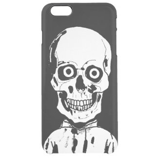 A skull or living dead clear iPhone 6 plus case