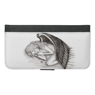 A sleeping Angel , black and white iPhone 6/6s Plus Wallet Case