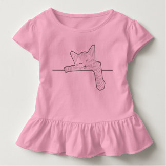 A sleeping cat toddler T-Shirt