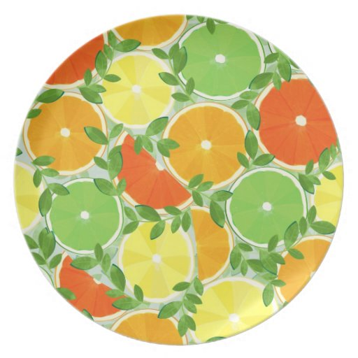 A Slice of Citrus Plates